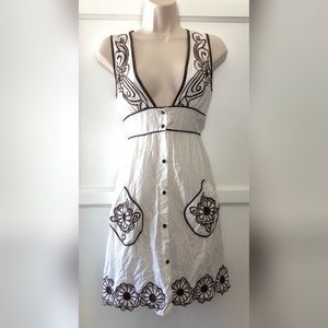 Lucca white and brown dress